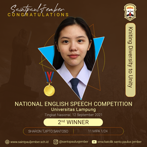 Second Winner National English Speech Competition