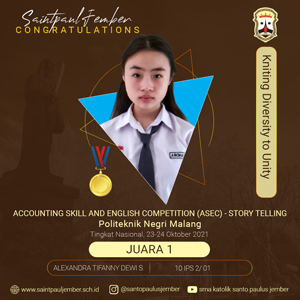 Juara 1 Accounting Skill and English Competition (ASEC) - Story Telling