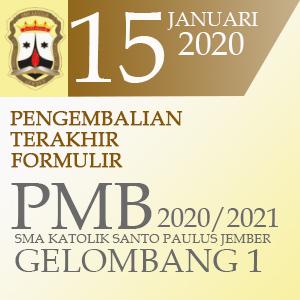 Pengembalian Terakhir Formulir PMB 2020/2021