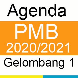 Agenda PMB 2020/2021 Gelombang 1