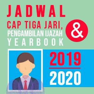 Jadwal cap tiga jari, pengambilan ijazah, dan yearbook 2019-2020