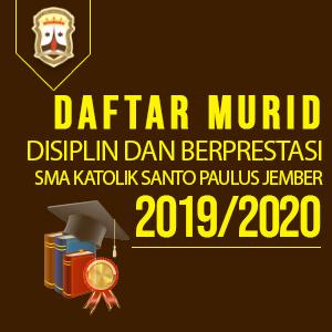 Daftar murid disiplin dan prestasi 2019/2020