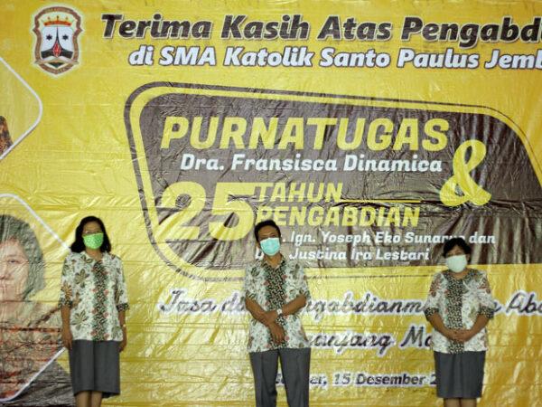 Purnatugas & 25 Tahun Pengabdian Guru SMAK Santo Paulus