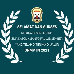 Daftar Siswa SMAK St Paulus Diterima Jalur SNMPTN 2021