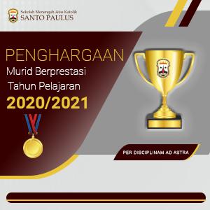 Penghargaan Murid Berprestasi Tahun Ajaran 2020/2021