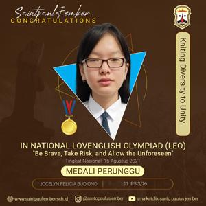 Medali Perunggu In National Lovenglish Olympiad (LEO)