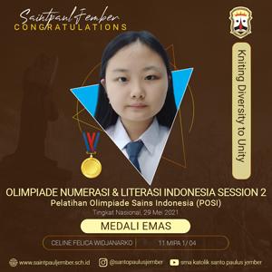 Medali Emas Olimpiade Numerasi & Literasi Indonesia Session 2
