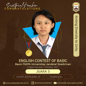 Juara 3 English Contest of Basic