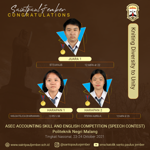 Juara Lomba Accounting Skill and English Competition(ASEC)-Speech Contest